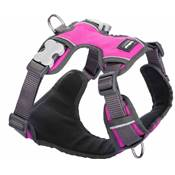 RED DINGO Padded harnais Hot Pink L 25mm, cou 47-73cm, corps 56-80cm