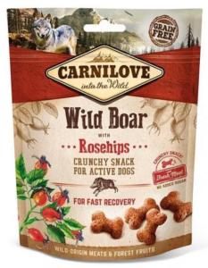 CARNILOVE - SNACK DOG -CRUNCHY WILD BOAR WITH ROSEHIPS WHIT FREASH MEAT - 200GR