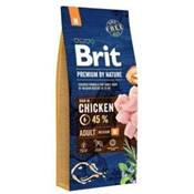 BRIT PREMIUM BY NATURE - DRY DOG - ADULT M - 15KG