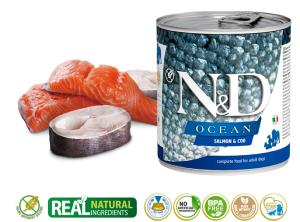 N&D CHIEN OCEAN SAUMON & MORUE 285 GR