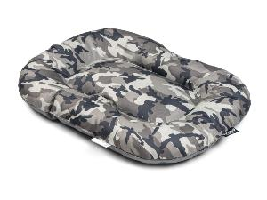 Coussin Army gris 100x65cm