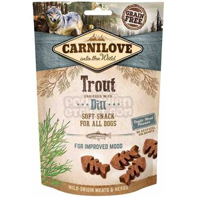 CARNILOVE - SNACK DOG - SEMI MOIST TROUT ENRICHED WITH DILL - 200GR