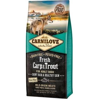 CARNILOVE FRESH - DOG - ADULT - CARP & TROUT - HEALTHY SKIN - 12KG