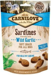 CARNILOVE - SNACK DOG -SEMI MOIST SARDINES ENRICHED WITH WILD GARLIC - 200GR