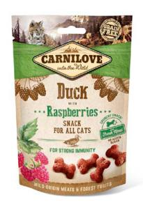 CARNILOVE - SNACK CAT -CRUNCHY DUCK WITH RASPBERRIES WITH FRESH MEAT - 50G