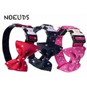 WOUAPY COLLIER NOEUD 15 MM 24/38 CM FUSHIA
