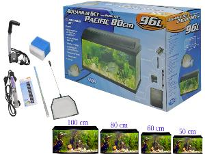 Aquarium kit + bio filtre Pacific 50x25x30cm 37,5L