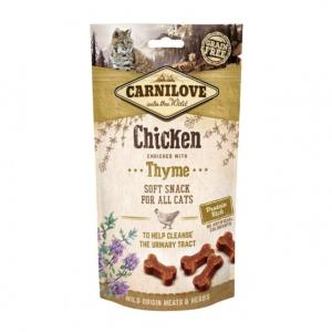 CARNILOVE - SNACK CAT -SEMI MOIST CHICKEN ENRICHED WITH THYME - 50G