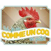Panneau photo poule vintage1 FR