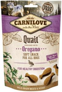 CARNILOVE - SNACK DOG -SEMI MOIST QUAIL (CAILLE) ENRICHED OREGANO (ORIGAN) - 200GR